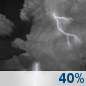 Sunday Night: Chance Showers And Thunderstorms
