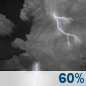 Thursday Night: Showers And Thunderstorms Likely