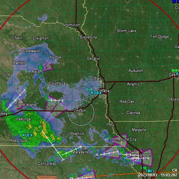 SE Lincoln, NE USA Weather Website - GRLevel3 Radar